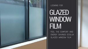 glazed window film
